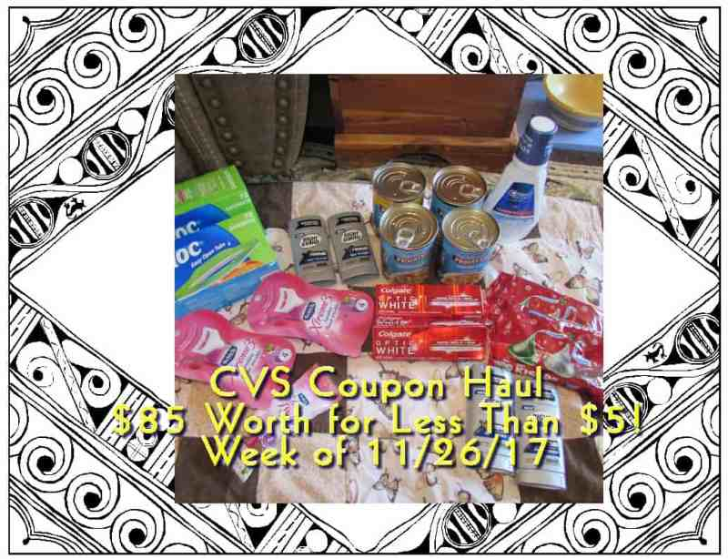 CVS 11-26-17 Coupon Haul! $85 Worth for Less Than $10! (Could Be Less if You Have More RBC's!)