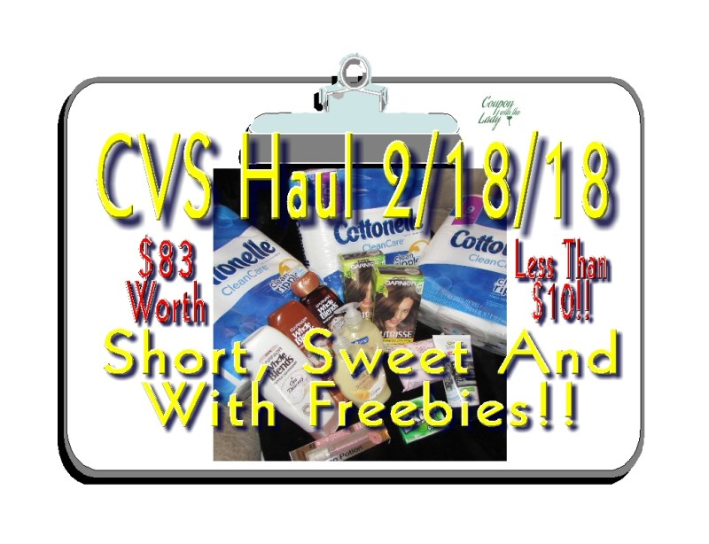 CVS HAUL 2/18/18: Short, Sweet and With FREEBIES!