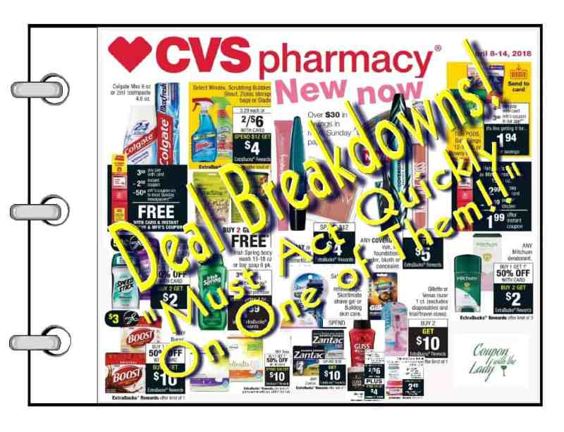 """CVS Deals Breakdown Ideas for the Week of 4-8-18 Including One """"Must Act Quickly Deal!"""""""