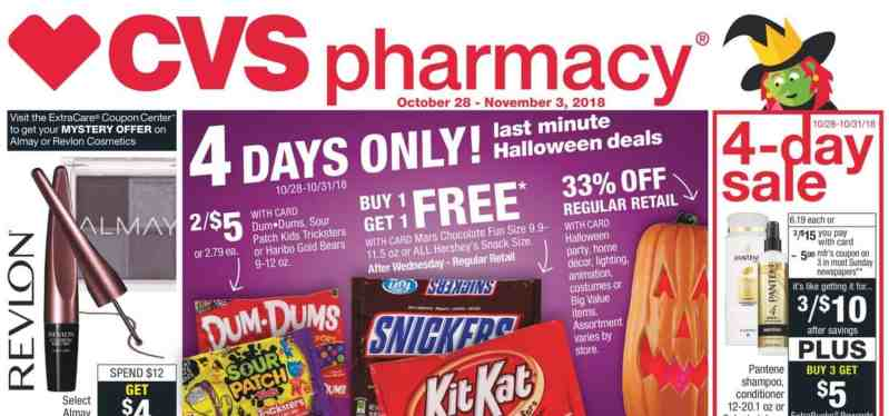 CVS Coupon Deals for the Week of 10/28/18! With a FREE Gift Card Option!