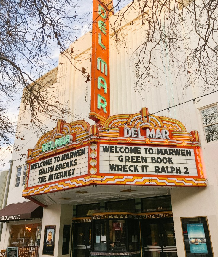 Del Mar movie theater in Santa Cruz California taken by mental health blogger