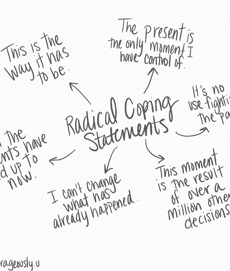 Radical coping statements from DBT radical acceptance