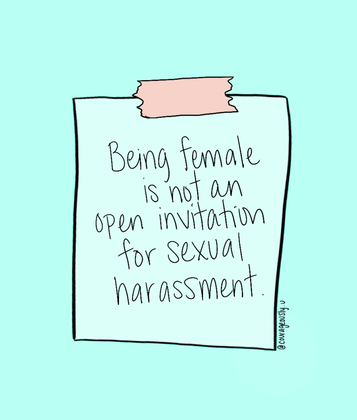 Picture quote about sexual harassment