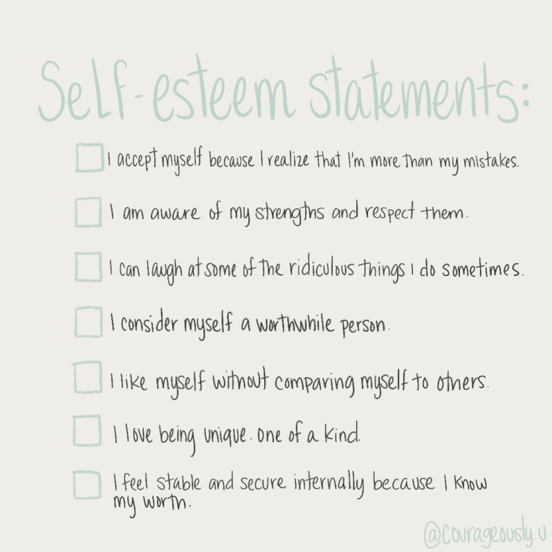 proc-create quote about self-esteem statements created by courageously.u