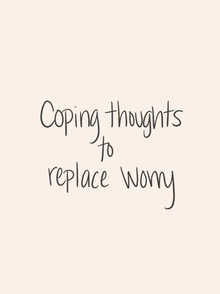 How To Replace Worry