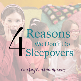 """I'm Sorry, We Don't Do Sleepovers"" & 4 Reasons Why Not, black and white issue, Angie Tolpin, Courageous Mom, conviction, decisions, pressure, nagging, friend's house, parents, teens, advocates, parental peer pressure, cultural peer pressure, parenting, peer pressure, attitudes, values, behaviors, conforming, group norms, peer group, movies, uncomfortable, kids, crowd, feeling left out, sleepover, conflict, believers, Dr. James Dobson, training books, Tim Challies, biblical worldview, freedom, technology, sexual confusion, childhood experiences, teepeeing houses, smoking, drinking, partying, drugs, Truth or Dare, Ding Dong Ditch, spin the bottle, gossip, vulnerable, horror movies, horrid movies, vandalism, sexual experience, ouija board, demonic presence, bullying, spiritual warfare, temptations, sin, unsupervised, porn, crushes, friendship, parents accountable, wisdom, family, fun, cool mom, idle chat, maturity, follower, leader, Leadership camps, safe environment, camping, overnight camp, scripture, 1 John 2, darkness, danger, warning, Isaac Tolpin, prayer, Redeeming Childbirth, The Christian Woman's Guide To Building Authentic Friendships,"