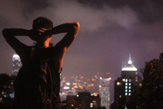 Hong Kong Night Lookout