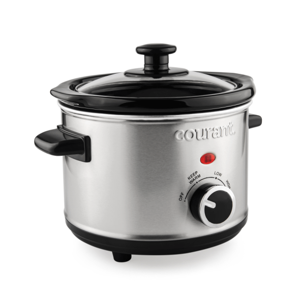 Courant 1.5 Quart Slow Cooker Stainless Steel
