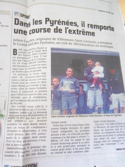 Article du journal l'union