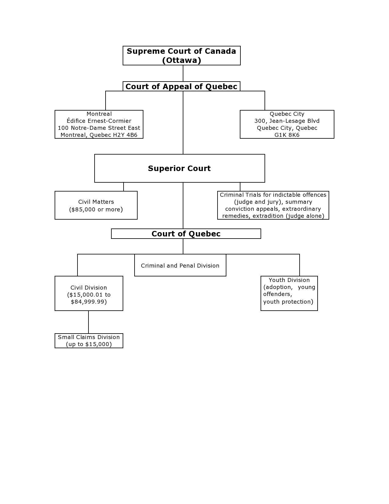 hight resolution of this diagram shows the position of the various courts in the judicial system