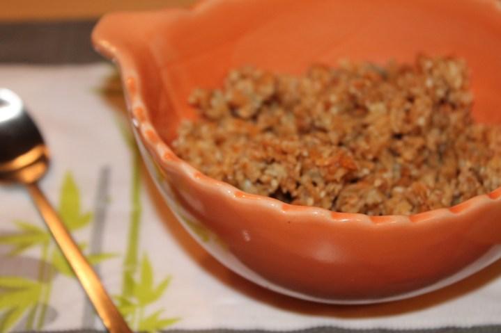 Céréales croustillantes à la noix de coco et miel