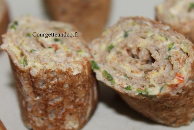 Roulé de galette de Sarrasin fraîcheur
