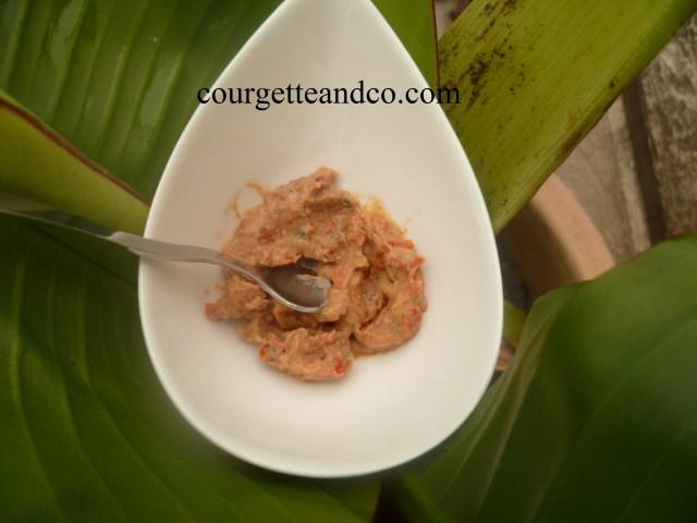 Tartinade aux tomates séchées et basilic