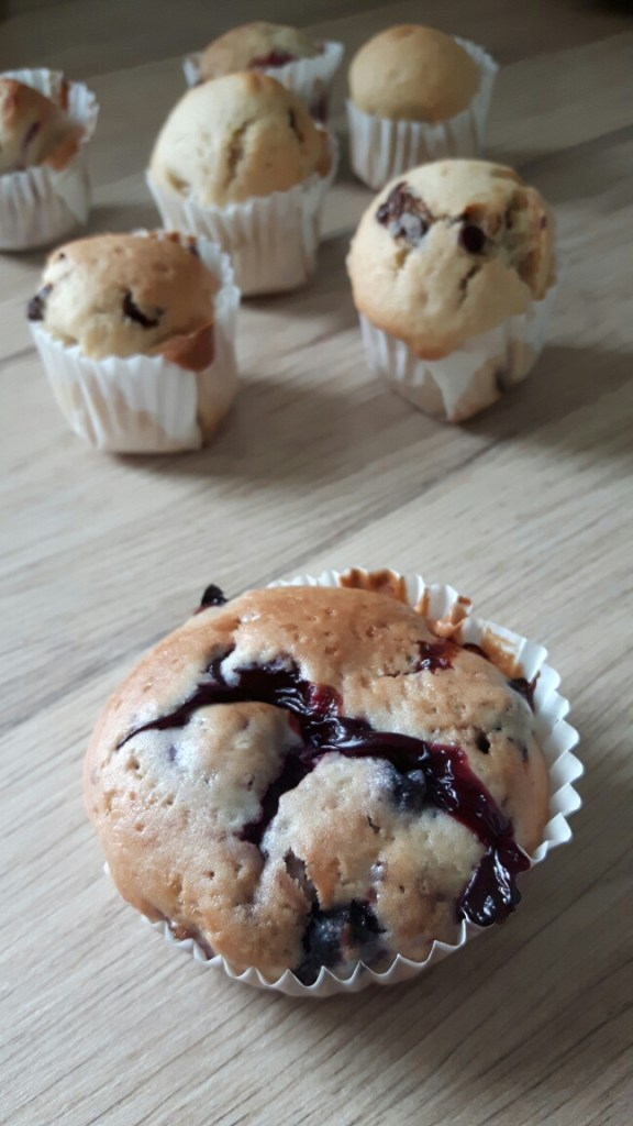 Muffins vegan aux fruits rouges