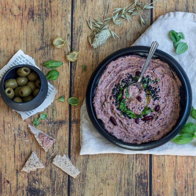 Tartinade de haricots rouges aux olives
