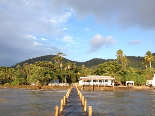 a view of Kep from the sailing club