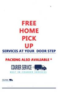 Free Home Pick up Courier Service