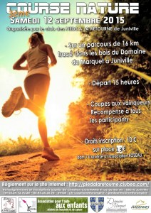 Course nature JUNIVILLE - 2015