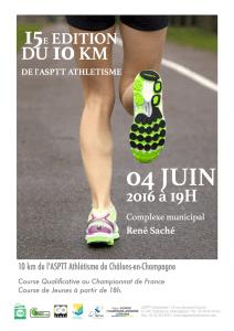 10KM de CHÂLONS EN CHAMPAGNE - 2016
