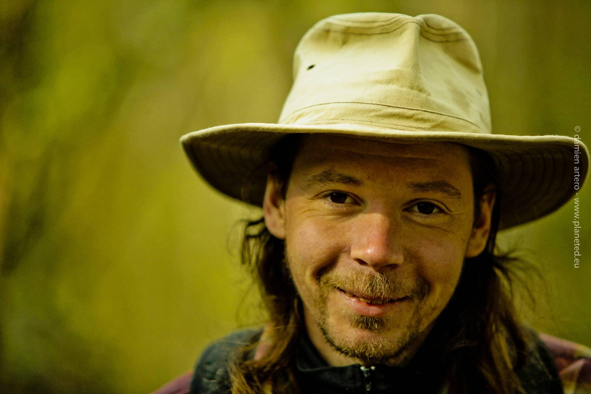 Florian Gomet, aventurier et coureur, photo par Damien Artero