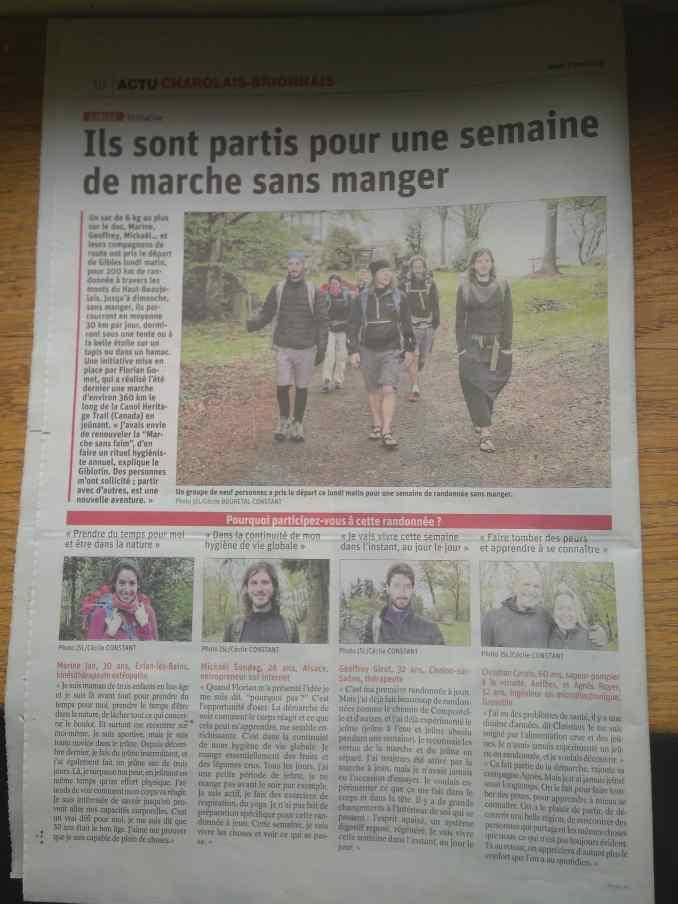 La Marche Sans Faim dans le journal !