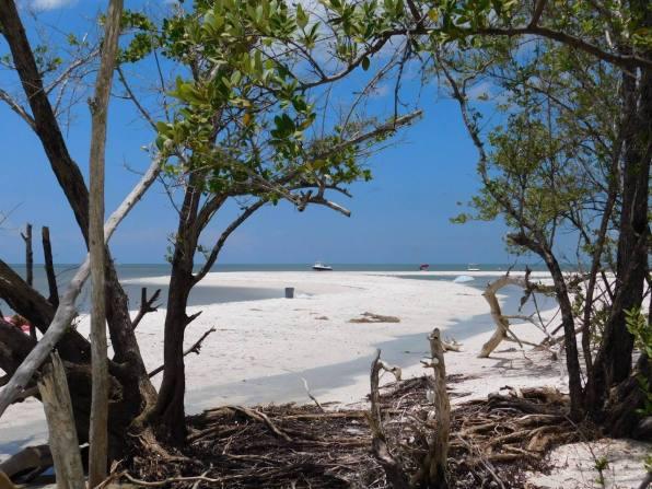 Plage de Barefoot Beach à Bonita springs en Floride