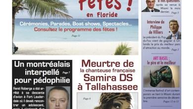 Photo of Le Courrier de Floride de décembre est sorti !