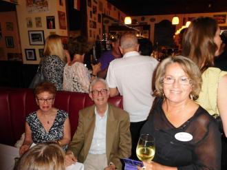 Bruno Girard et Nicole Bouchard Network Courrier de Floride au restaurant Casimir de Boca Raton