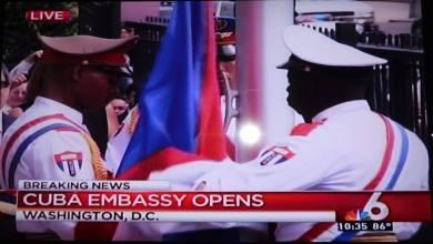 Photo of Historique : Le drapeau cubain flotte à Washington !