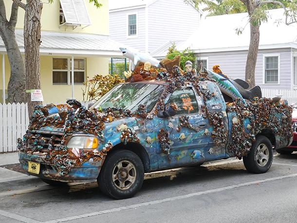 Voiture décorée à Key West - Floride