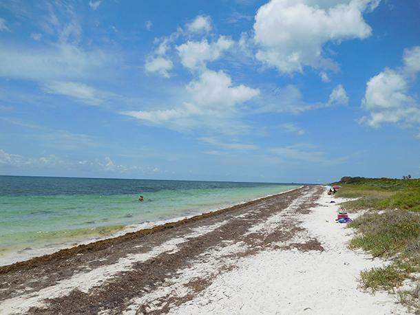 Plage et paysage à Bahia Honda dans les îles Keys de Floride