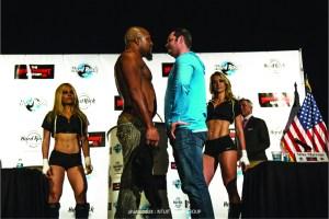 Championnat de boxe Poids lourds à Hollywood : Briggs/Marone.
