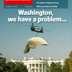Couverture spécial Donald Trump de The Economist