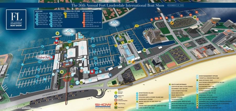 Carte du boat show de Fort Lauderdale