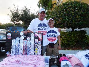 Deux supporters du Dr Ben Carson à Fort Lauderdale.