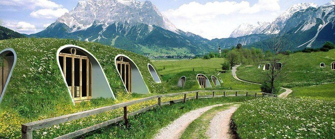 Maison de Hobbit (photo : Green Magic Homes)