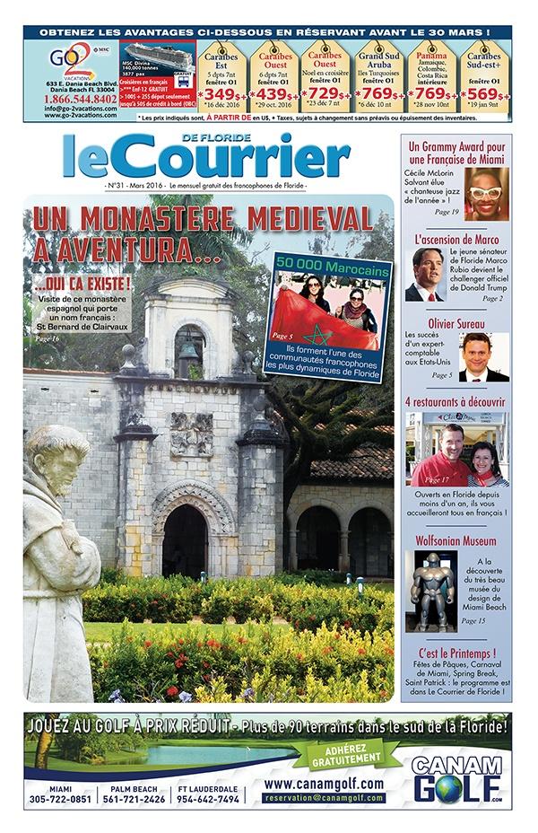Couverture du Courrier de Floride - Mars 2016