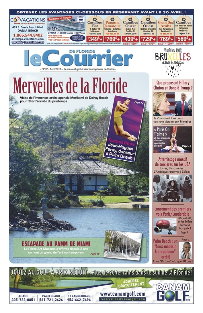 Courrier de Floride d'avril 2016