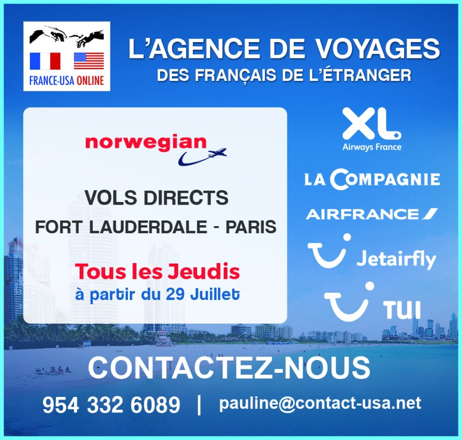 Contact France USA / Avions / vols paris miami ou Fort Lauderdale