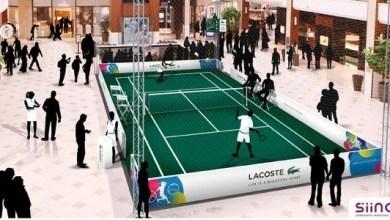 Photo of Miami Open : Lacoste ouvre un court de tennis indoor à Aventura Mall !