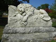 Monument aux soldats confédérés dans l'Oakland Cemetery d'Atlanta