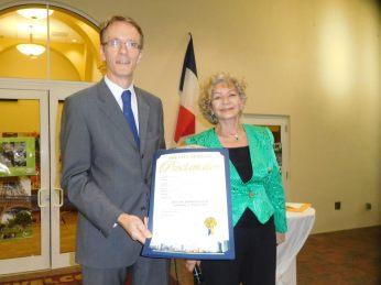 Philippe Létrilliart et Anaïde Govaert - 30 ans du Consulat de France à Miami