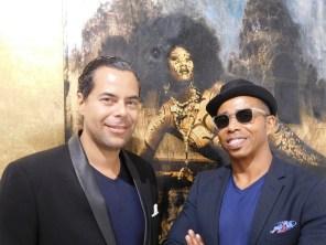 Patrick Glémaud et Daniel Stanford, de la Macaya Gallery, qui accueillait le cocktail CCQF à Miami