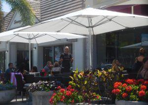 Café à St Armand Circle sur Lido Key à Sarasota