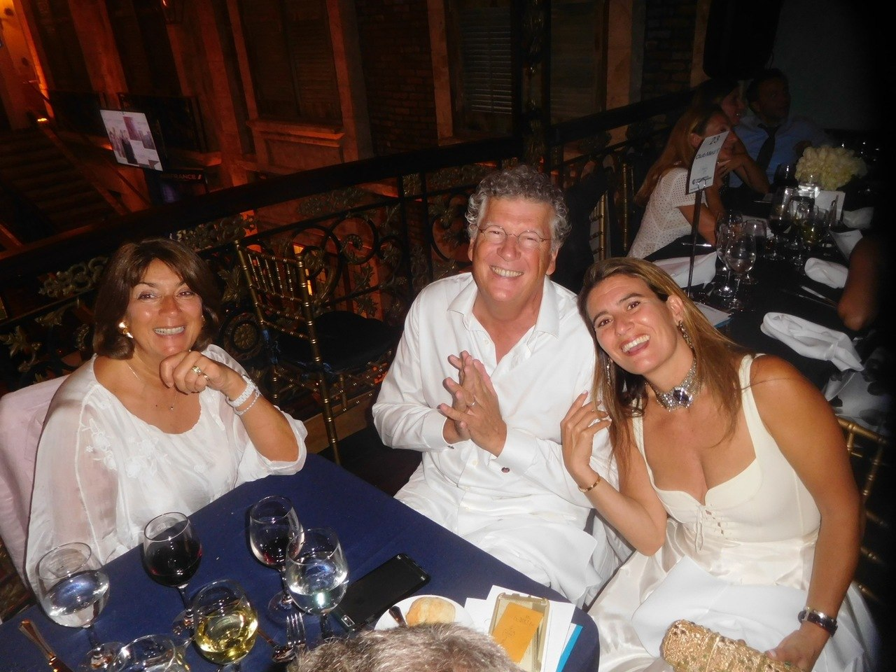 Gala Facc 2016 à Miami : Marie-Pierre Maquet, Patrick et Gabrielle Abada.