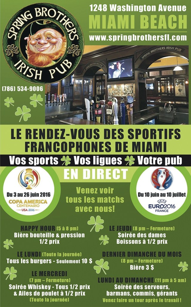 Spring-Brothers-Irish-Pub-Miami-francophone-sports-happy-hour