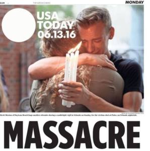Couverture de USA Today, 13 juin 2016