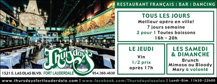 Thursday's Restaurant Las Olas Fort Lauderdale