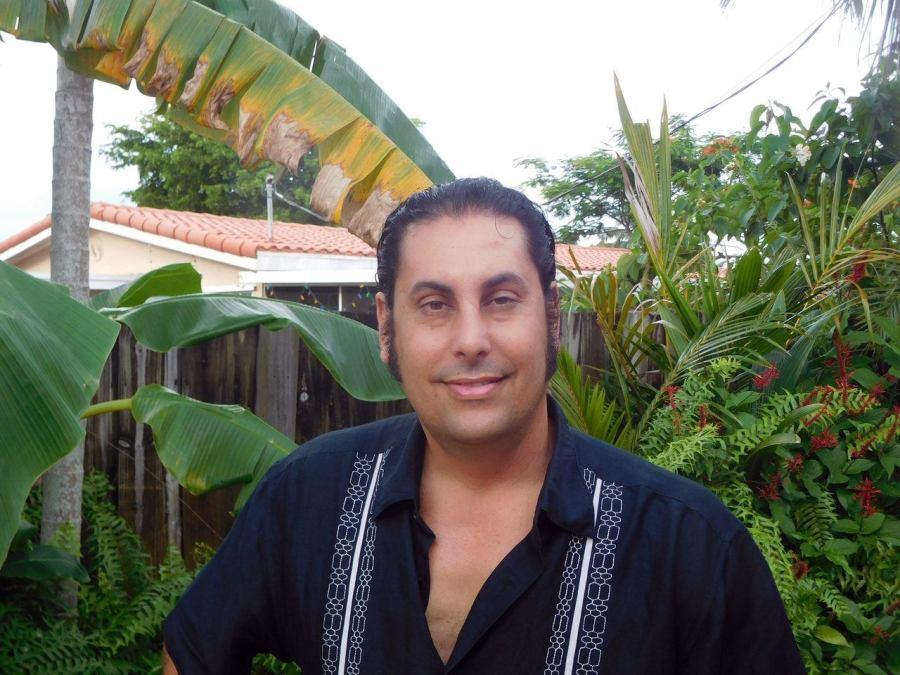David Morin chez lui à Pompano Beach