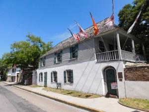 Plus vieille maison des Etats-Unis, à St Augustine en Floride